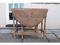 **Antique solid wood folding dining table for sale!**