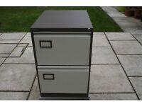 2 Drawer Filing Cabinet in Coffee & Creme plus Suspension files