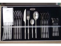 Brand New, Unopened, Stellar Rochester Matt 24 Piece Cutlery Gift Box Set