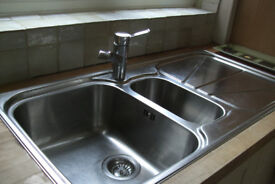 Franke 1.5 stainless sink and monobloc tap