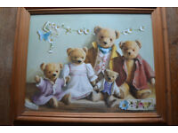 Teddy Bear pictures by Deborah Jones. Framed and glazed each 52 1/2 x 63cm