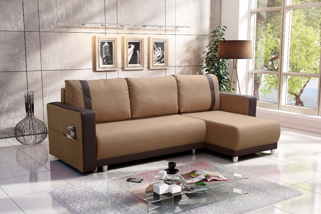 New Corner Sofa Bed 'CARLOS' - High Quality - Very Quick FREE Local Delivery