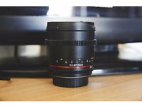 Samyang 85mm 1.5 Canon Fit Lens