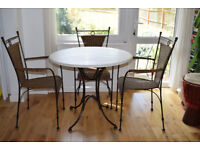 Dining Table with 4 Chairs, hand-crafted