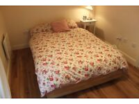 Double bed with storage + matress, quilt and 2 pillows