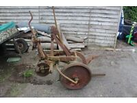 david brown single furrow plough.