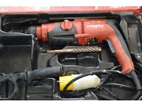 Hilti TE 2 SDS Drill 110v - Rotary Hammer drill with case