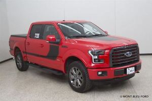 2016 Ford F-150 Lariat w/NAV BLACK AND RED INT , LOADED !!!!!