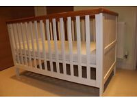 Very good condition Mothercare cot bed and mattress with machine washable cover