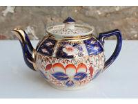Antique Vintage Arthur Wood Teapot Imari Pattern Gaudy Hand Painted Tea