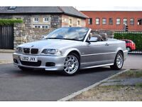 02 M SPORT BMW 330Ci CONVERTIBLE MANUAL,SERVICE HISTORY,LEATHER*PARKING AID*AUTO LIGHTS*4 EXHAUSTS