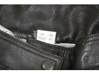 Ladies Buffalo leather motorcycle trousers. Size 8/10 Blue and black