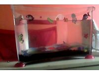 Fish tank, filter and oxygen toy for fish
