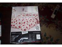 White Poppy Duvet Cover set £20