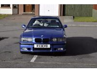 BMW E36 M3 Evo Coupe with SMG - Estoril blue - 93K miles - with headlight washers