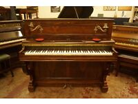 Antique upright piano by Elcke - Tuned & UK delivery available