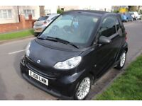 SMART CAR FORTWO CABRIO 08 1.0 MHD PASSION AUTOMATIC 48K CONVERTIBLE 2DR BLACK MERCEDES NO AYGO iQ