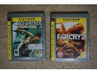PS3 Games Console Uncharted Drake's Fortune, Farcry 2