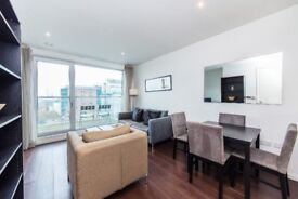 Modern, Furnished 1 bed in Canary Wharf with Gym, Pool & Balcony E14 MB