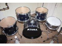 Tama Stagestar Dark Blue 5 Piece Drum Kit (18 in bass drum) - DRUMS ONLY
