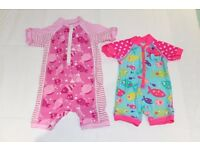 Baby Girls UV Swimming Costumes x2