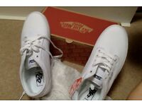 Brand New White Vans size 9 (UK), size 10 (US)