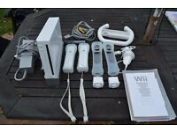 Nintendo Wii White Games Console with games