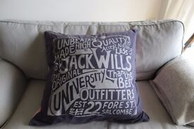 Pink and Navy jack wills cushion