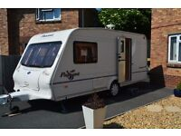 BAILEY PAGEANT MONARCH 2 BERTH CARAVAN 2004 WITH REMOTE MOTOR MOVER AND AWNING