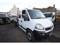 VAUXHALL MOVANO 3500 CDTI DOUBLE CAB TIPPER - 06-REG