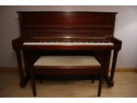 Upright Kemble London Piano + Stool For Sale