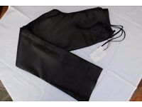 Ladies Black Leather Lakeland Trousers Size 12