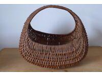 Genuine, Vintage, 1950s / 1960s, Iconic, Gondola, Wicker Shopping Basket