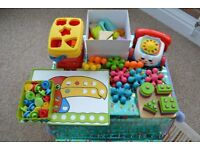 SELECTION OF 6 LOTS OF TODDLER LEARNING TOYS, FISHER PRICE ELC, ETC, EXCELLENT CONDITION