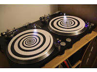 stanton str8 150 turntables - direct drive with q-bert slipmats