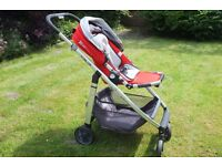 Uppababy cruz - baby pushchair with infant insert, good condition
