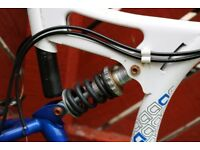 """24"""" Mountain Bike In White And Blue With 18 Gears - Collect From Bradford"""