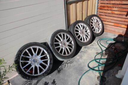 """Volkswagen Golf 17"""" alloy wheels 5x112 - 1 wheel damaged Quakers Hill Blacktown Area Preview"""