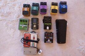 Various Guitar Pedals