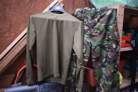 Pair of Army Issue Lightweight DPM Trousers And Long Sleeve Top