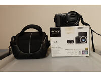Boxed as New Sony NEX-3NL Camera W/ Sony SELP16-50mm E Mount Lens, DORR Case, Sandisk 8GB & Charger