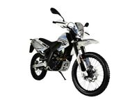 NEW MOTORINI SXR ENDURO, 125CC MOTORCYCLE, £11.17 PER WEEK