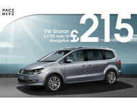 7 seater VW SHARAN PCO hire / rent - UBER Hire ready - Better than Ford Galaxy - Diesel auto 2016-17