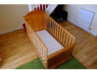 Mothercare cot bed to use for baby to toddler