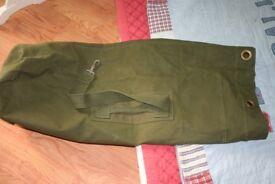 a Genuine British Army duffle bag
