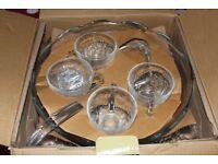Camelia Glass Punch Bowl Set (Vintage BRAND NEW)