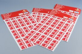 50 x 1st Class Large Letter Stamps Face Value £49 (save £11) - brand new