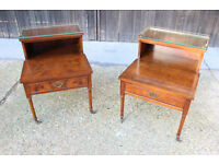 Pair of Bedside Tables with a shelf and Drawers
