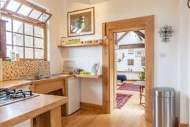 Studio in rural North Yorkshire: in exchange for help with care of elderly lady