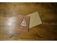 Wooden Christmas Cards 3 for 10 BGP